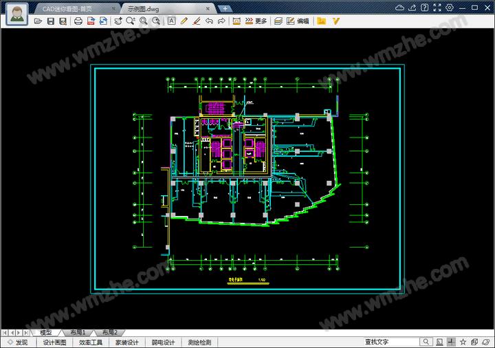CAD迷你看图怎么测量长度和面积 CAD迷你看图测量