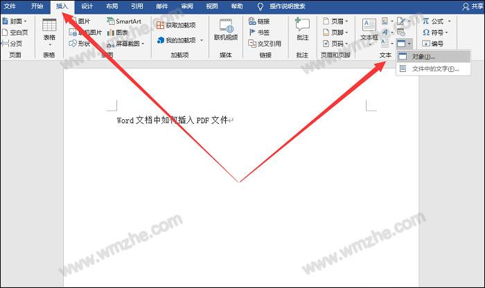 Word和Excel里怎么插入PDF内容 WordExcel插入PDF文件教