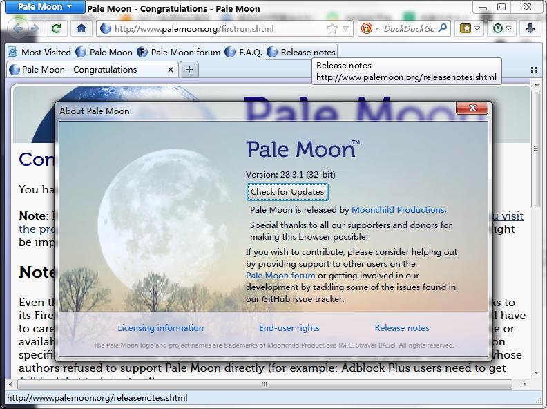 PaleMoon64位V28.8.1.0官方版