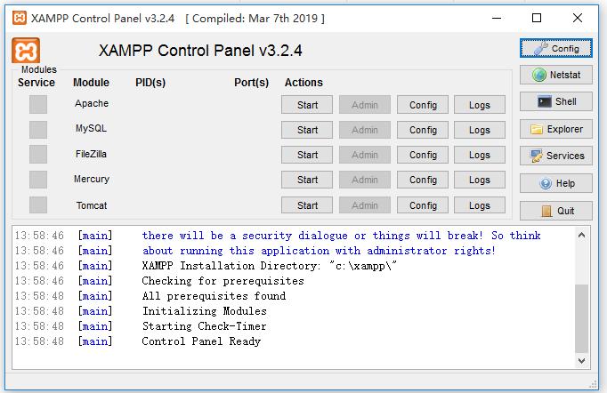 <b>XAMPPV7.4.6.0官方版</b>