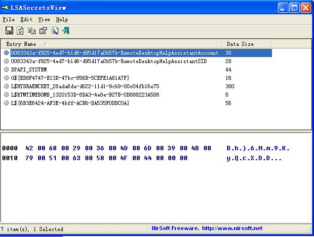 <b>lsasecretsviewV1.21绿色版</b>