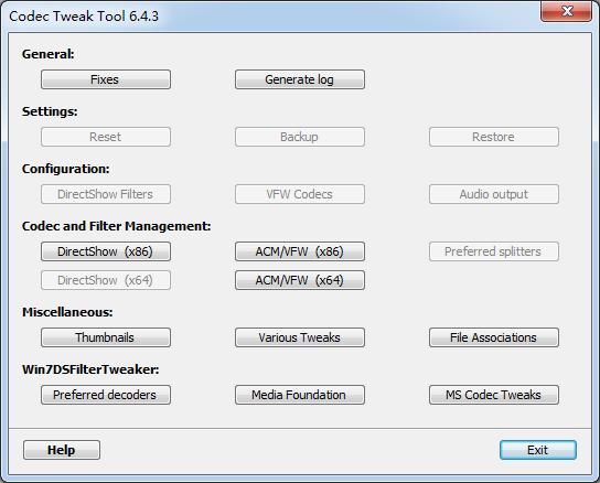 <b>K-LiteCodecTweakToolV6.5.0.0官方版</b>