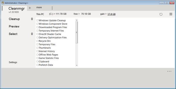 <b>Cleanmgr+V1.36.1141绿色版</b>