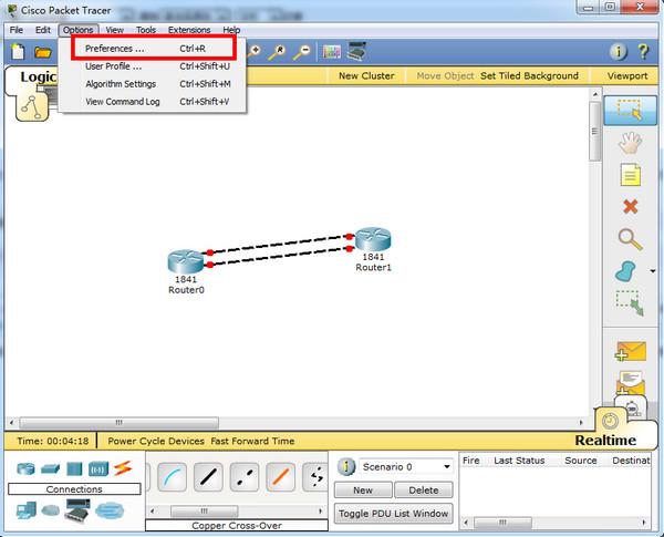 思科模拟器(Cisco Packet Tracer)截图
