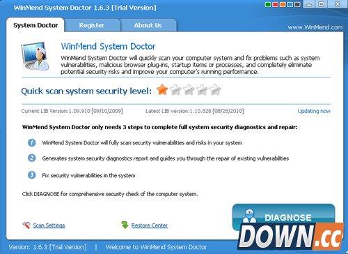 WinMend System Doctor(系统漏洞扫描修补软件) v1.7.2 特别版