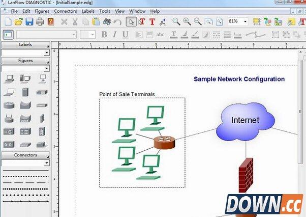 网络拓扑图制作软件(pacestar lanflow) v6.21 免费版