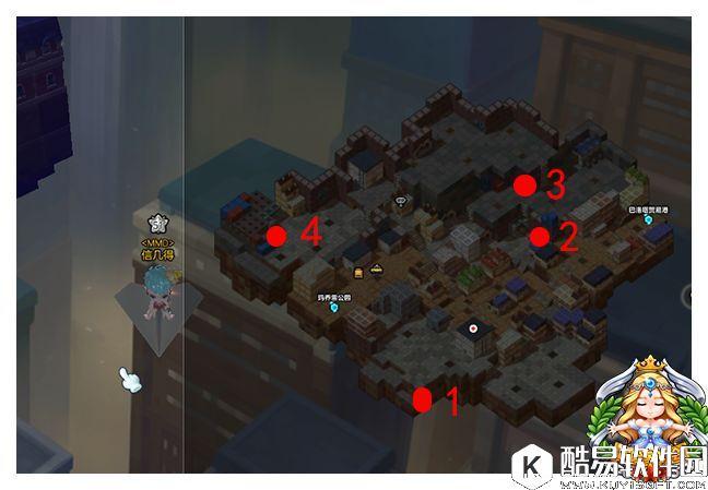 冒险岛2黄金宝箱坐标点 黑金市地图宝箱分布