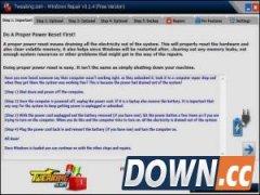 Windows Repair(恢复或修复注册表设置) 3.8.1 免费版